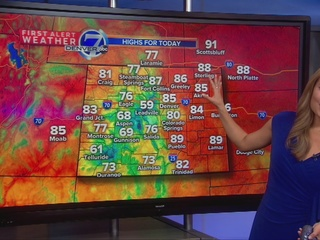 Chance for isolated late-day storms and showers