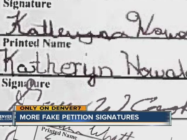 More fake petition signatures