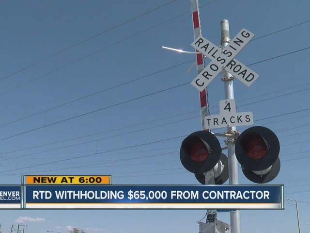 RTD withholding $65,000 from contractor for A Line issues