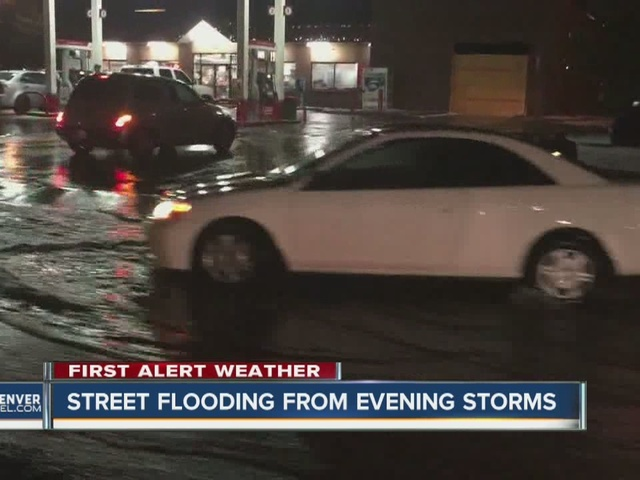 Tuesday storm brings hail, street flooding