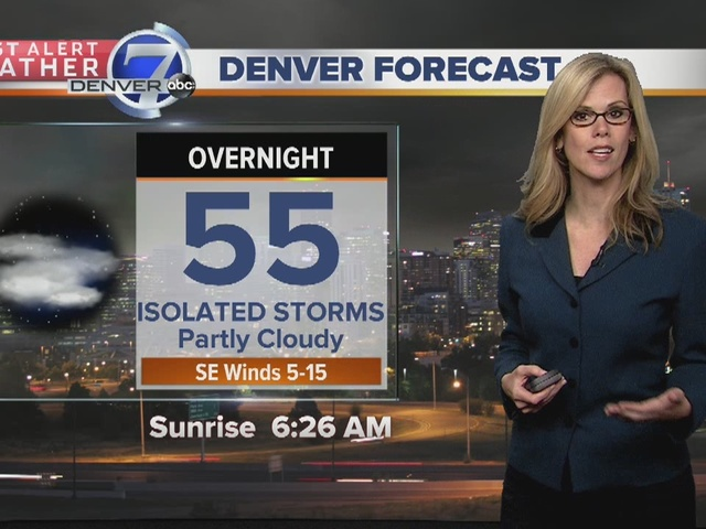 A mild night in store..along with a few storms