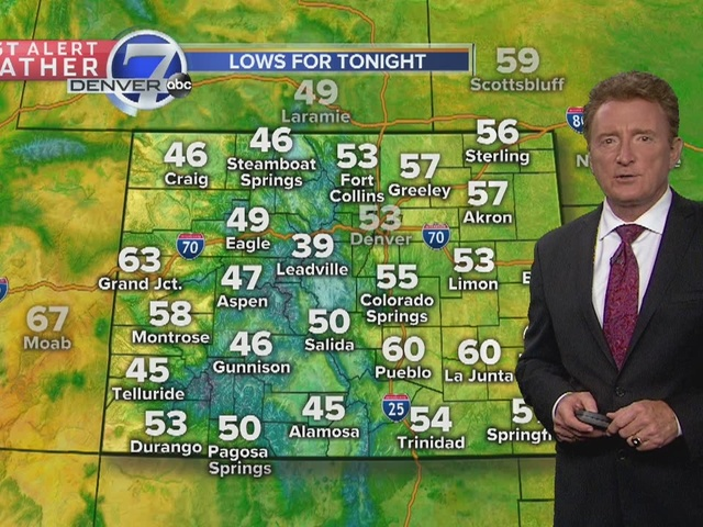 Partly cloudy skies tonight..rain for the eastern plains