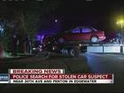 Shots fired as suspect crashes stolen car