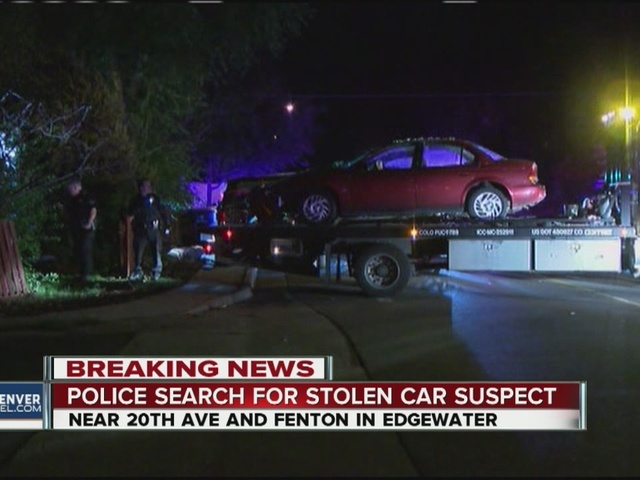 Shots fired as suspect steals, crashes car