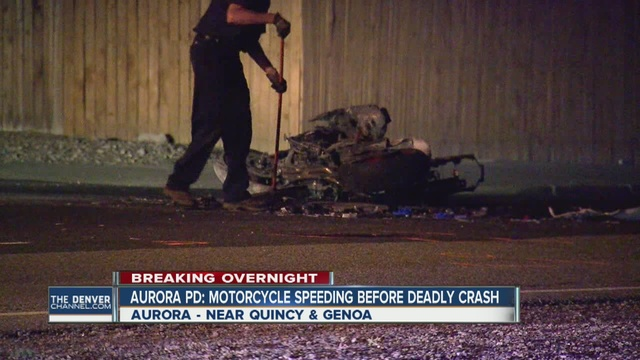 Fiery collision with vehicle kills motorcyclist in Aurora
