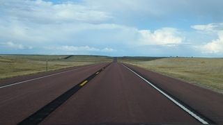 Why are some highways in Wyoming red?
