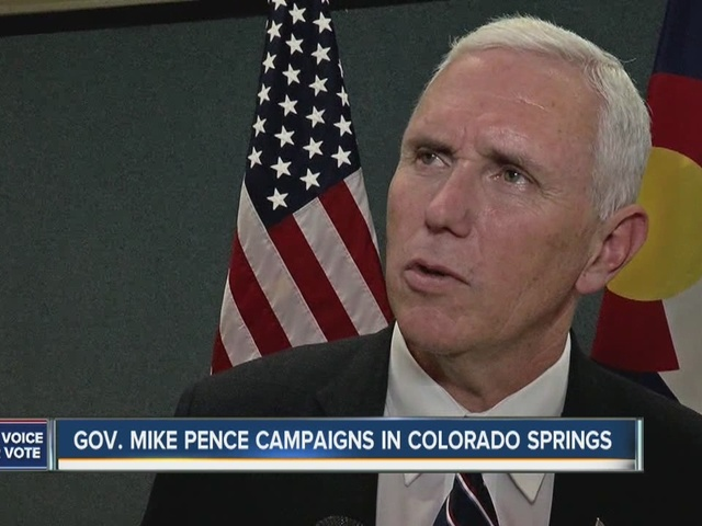 Donald Trump Jr. and Mike Pence campaign in Colorado