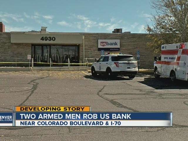 2 armed men rob Denver bank