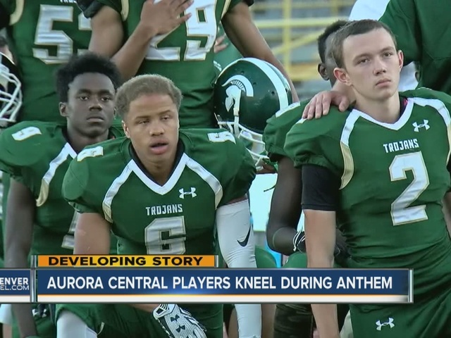 Aurora Central High School national anthem protest continues