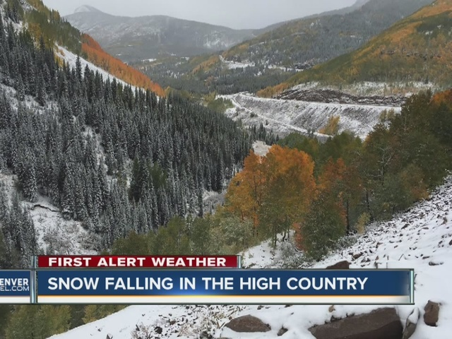 High country has snow on first full day of fall