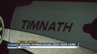 Missing Northglenn woman found dead near Timnath