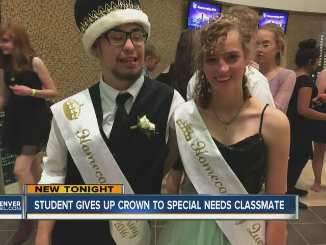 Douglas County High School student gives Homecoming King honors to…