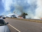 Grass fires close down Highway 285