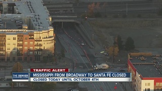 Stretch of Mississippi Ave. closed in Denver