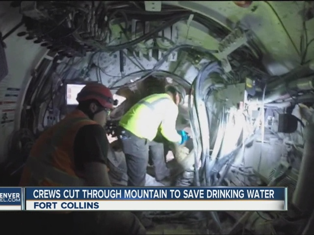 Crews cut through mountain to save drinking water
