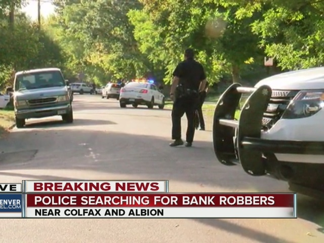 Police set up perimeter after bank robbery