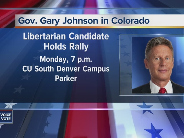 Gary Johnson to campaign in Parker Monday