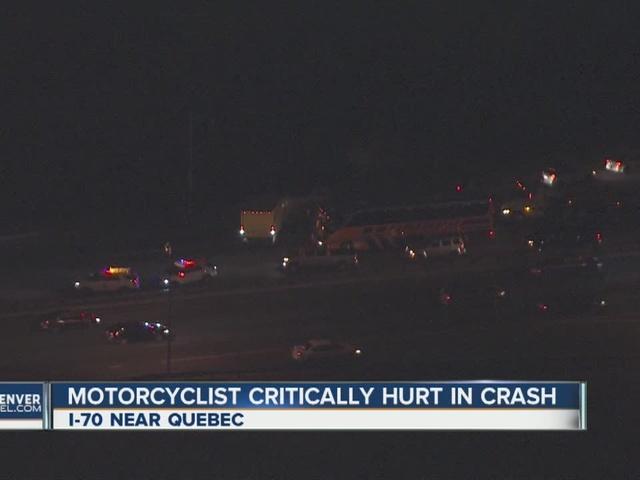 Motorcyclist hit on I-70