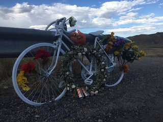Cyclist Jason Holden remembered with Ghost Bike