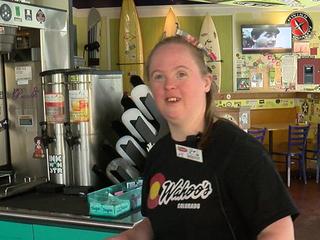 Wahoo's worker brings smile to customers' faces