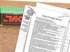 School staff quizzed on 'white privilege'
