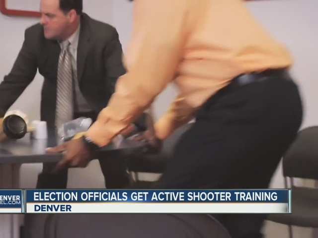 Denver poll workers get active shooter training ahead of general election
