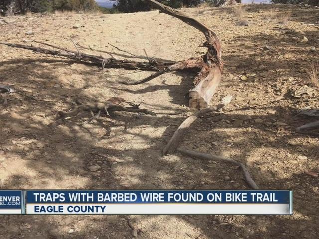 Dangerous traps found on Dirt Surfer mountain biking trail in Eagle
