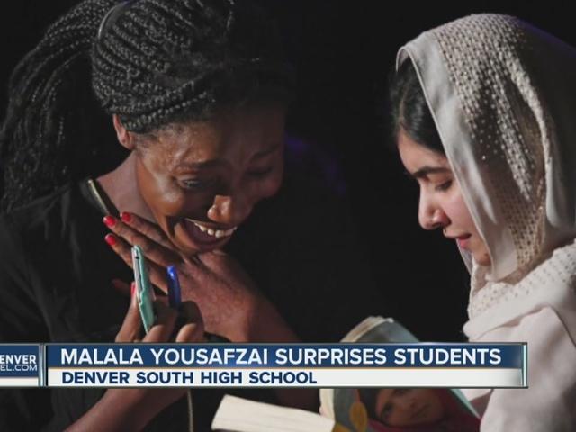 Malala makes surprise visit to Denver school