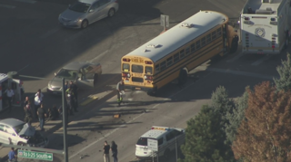 5 students hospitalized after school bus crash