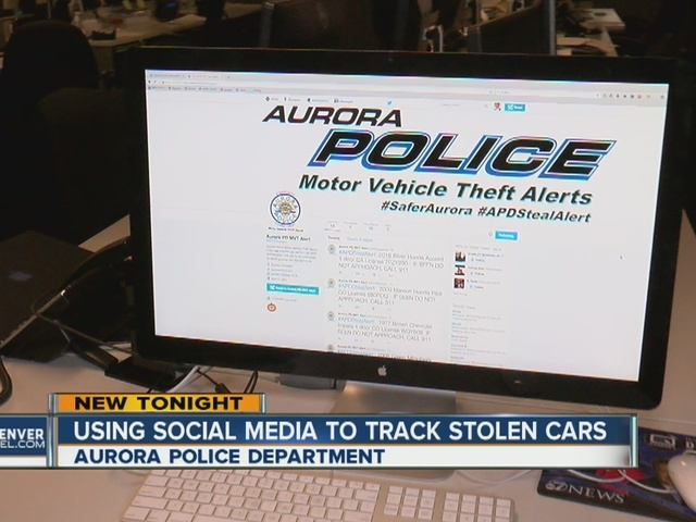 Aurora PD using Twitter account to help find stolen cars