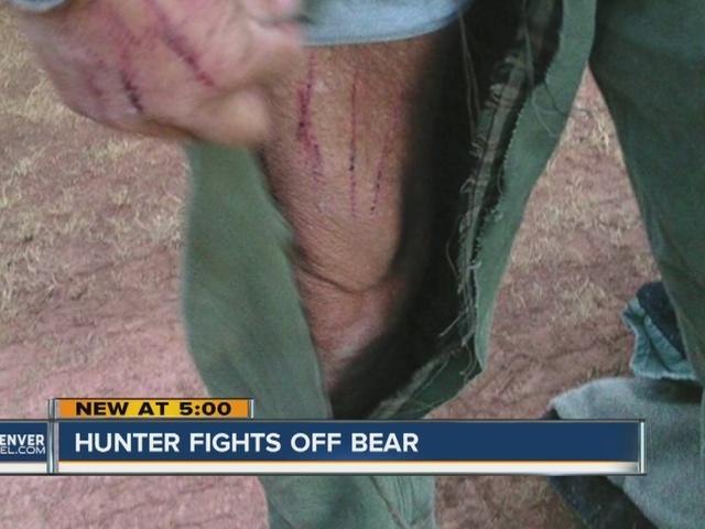Hunter fights off bear