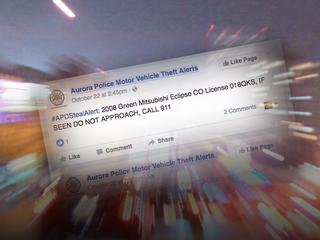 Facebook post helps locate stolen car