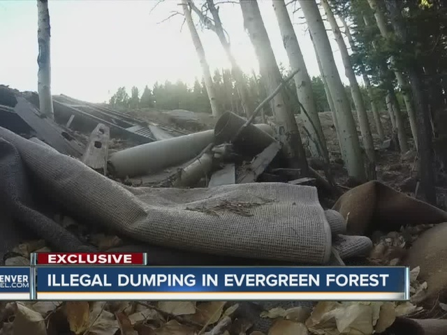 Couches, old TVs, other garbage illegally dumped in Evergreen forest