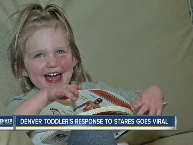 Denver toddler's reaction to stares, whispers about her port-wine stain…