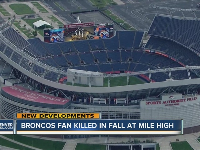 Fan dies after falling 60 feet over railing after Broncos' MNF game