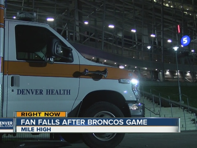 Fans falls at Mile High Stadium