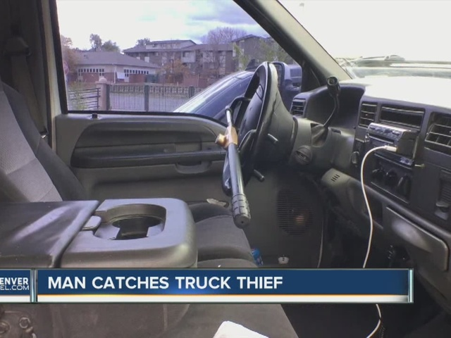 Man chases down his stolen truck in Denver