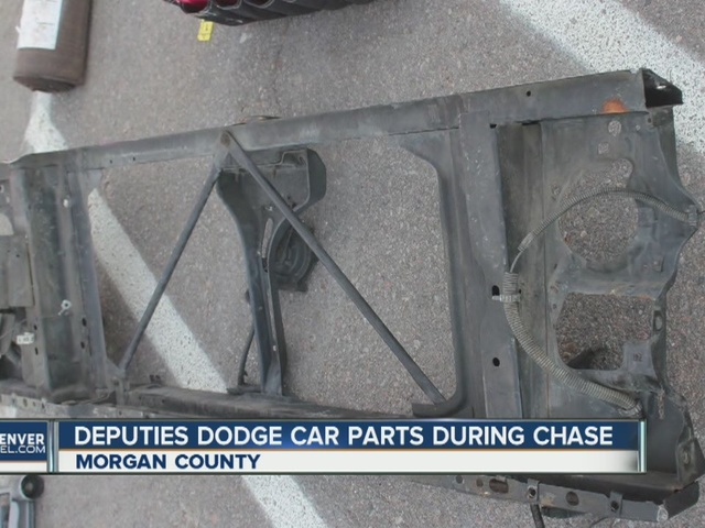 Morgan County deputies dodge car parts during high-speed chase