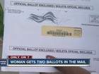 Voter receives multiple ballots in mail