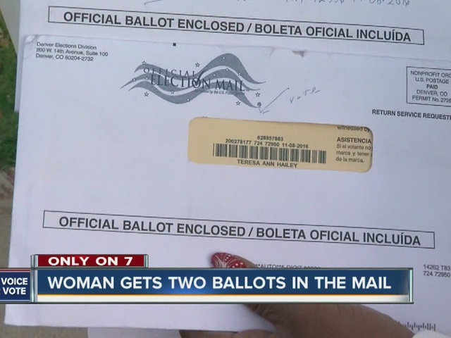 Woman gets two ballots in the mail