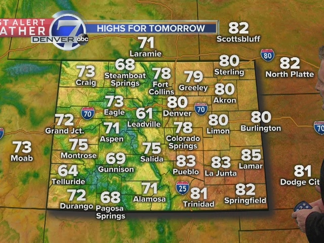 Expect 70s and low 80s Thursday and Friday