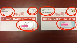 Voter receives 2 ballots with stark differences