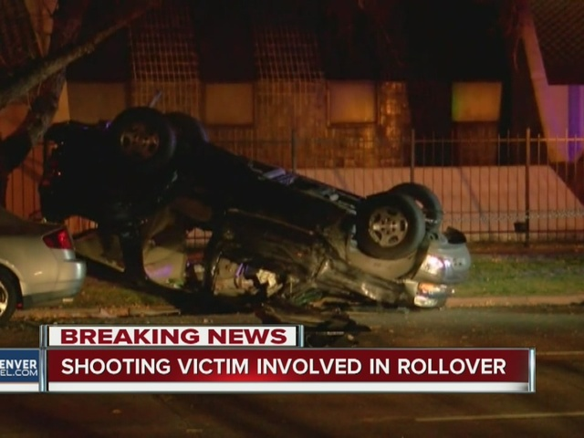 Two people seriously hurt in rollover after car chase and shooting in Denver