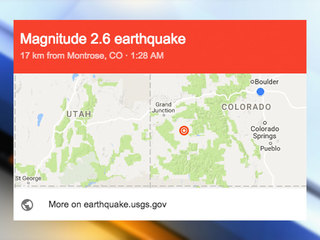 Earthquake hits Colorado's Western Slope