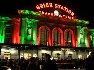 Holiday displays light up Denver