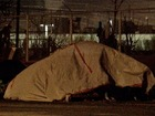 Homeless protest council as city adds beds