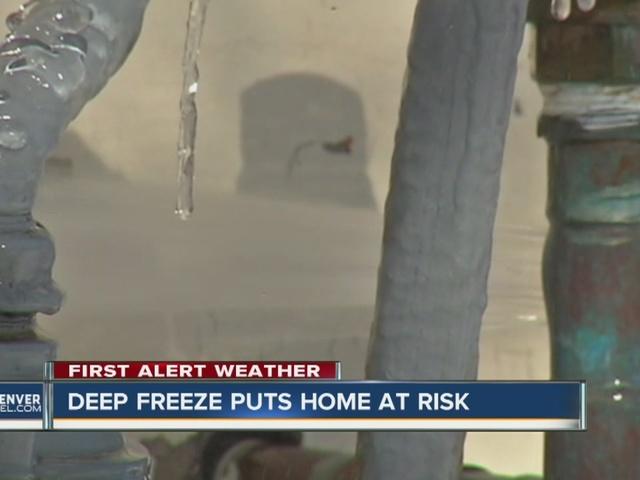 Deep freeze puts homes at risk