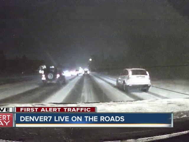 Slick roads make for tough commute as snowstorm moves in