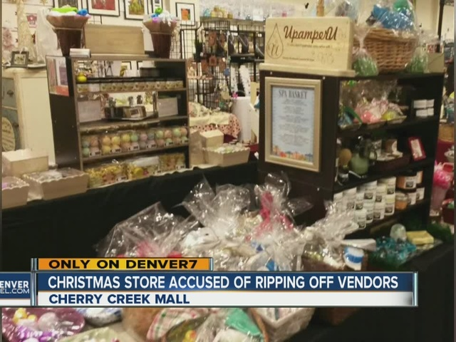 Christmas store accused of ripping off vendors