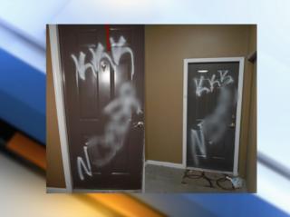More racist graffiti found in Aurora